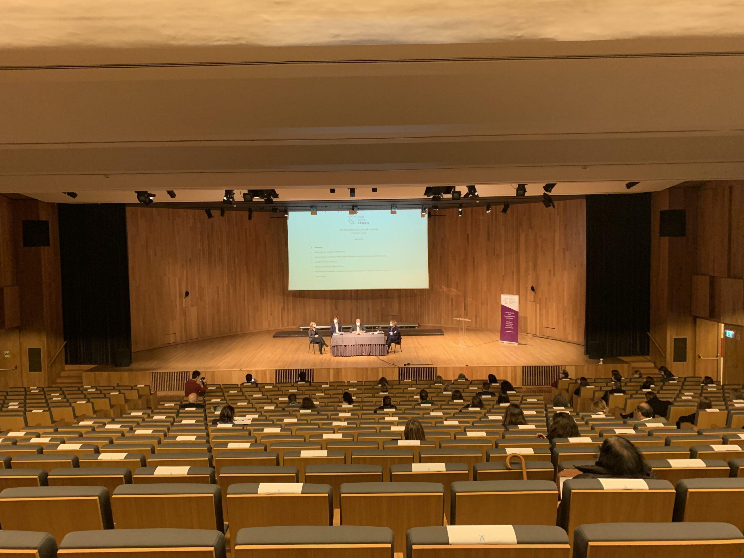 Visão geral do Auditório do Centro Paroquial da Boa Nova, no Estoril onde decorreu o CLAS 14 dez 2020