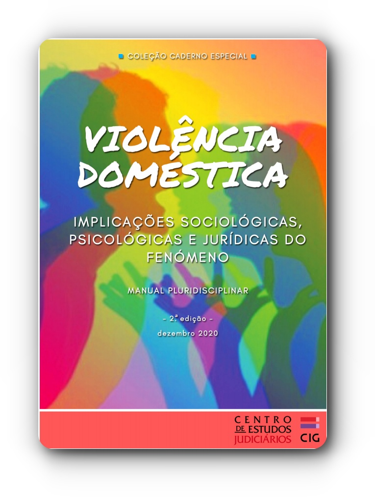 Capa do Manual Pluridisciplinar sobre as Implicações Sociológicas e Jurídicas do Fenómeno da Violência Doméstica