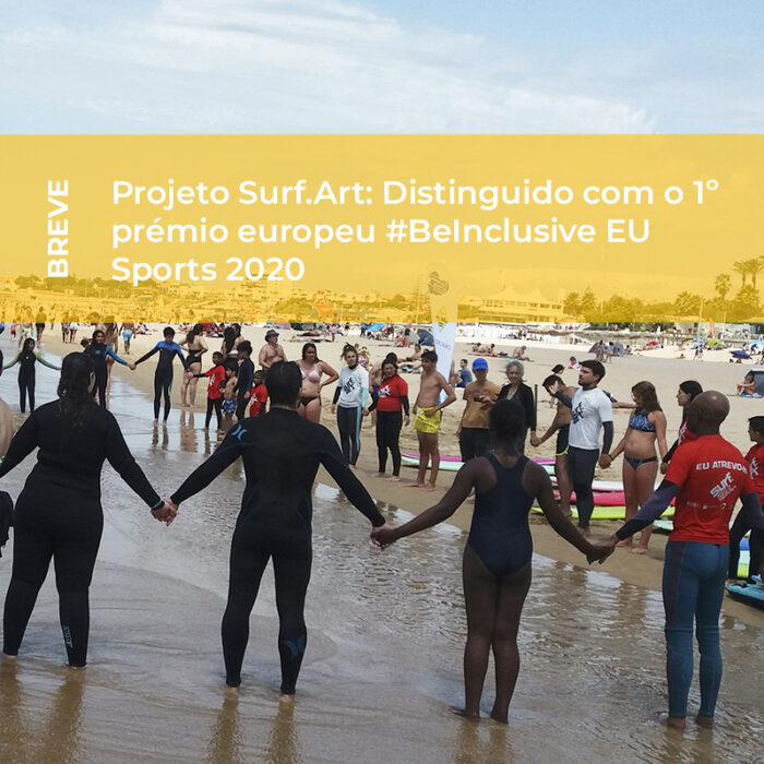 Projeto SURF.ART distinguido com o 1º prémio europeu #BeInclusive EU Sports 2020