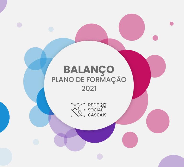 Logo do Plano de Formação da RS 2021 e logo dos 20nos da Rede Social Cascais